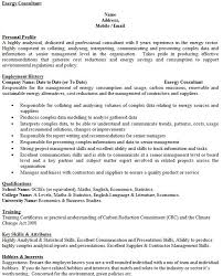 Consultant Cv Energy Consultant Cv Example Icover Org Uk