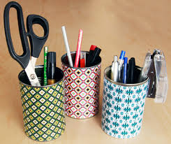 diy office storage ideas. diy craft room ideas and organization projects colorful tin can organizer cool diy office storage