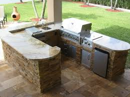 Prefabricated Outdoor Kitchen Kits L Shaped Outdoor Kitchen Kits Glass Front Upper Cabinets White