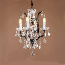 retro vintage antique rust french mini 4 arms chandelier crystal european empire style crystal chandelier for living room