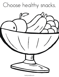 Small Picture Choose healthy snacks Coloring Page Twisty Noodle