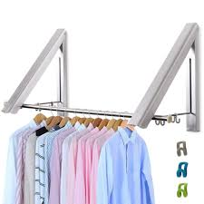 livehitop foldable wall mounted clothes