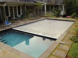 Walk In Pools Transitional Patio Design With Retractable Walk On Swimming Pool