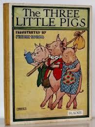 the three little pigs ilrated by frank adams 1st ed c 1935 blackie son three little pigsvine book coversvine