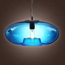 lightinthebox vintage glass pendant light in blue bubble modern design mini style ceiling light fixture for dining room bedroom living room