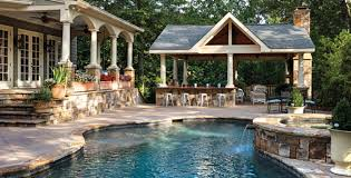 backyard designs. Backyard Designs With Pool And Outdoor Kitchen Home Interior Photos