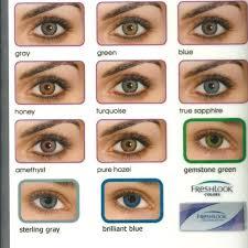 Blue Color Blends New Reusable Freshlook Contact Lenses