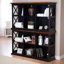 Bookcase Table Amazoncom Belham Living Hampton Console Table 2 Shelf Bookcase