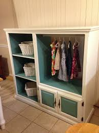 kids closet with drawers. Entertainment Center Made Into A Kids Closet With Drawers