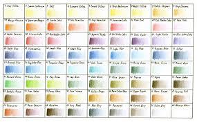 Jade Colour Chart Derwent Studio Coloured Pencil Chart In 2019 Color Pencil