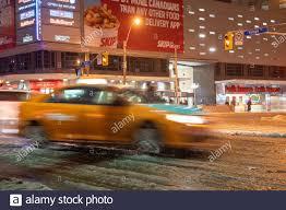 Taxi Advertising And Design Toronto Toronto Ontario Canada December 1 2019 Motion Blur Of A