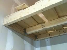 wall mounted garage shelving plans