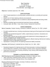 Chronological Sample Resume Best Of Sample R Best Sample Resume For Custodial Worker Best Sample