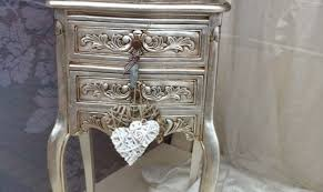 silver painted furniture. Metallic Sassy Silver Painted Furniture Newest Trend In Reloved