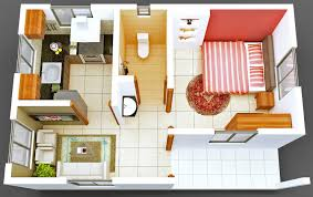 Small Picture One Bedroom Tiny House Interior Design Ideas