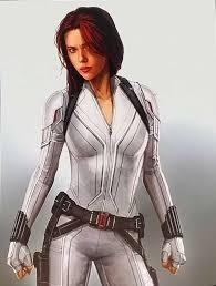 Scarlett Johannson Black Widow White Jacket Scarlett Johannson Jacket