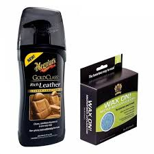 meguiar039s gold class rich leather cleaner conditioner posh care wax on microfiber applicators malaysia senarai harga 2019