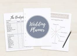 Free Printable Wedding Planner A5 Letter