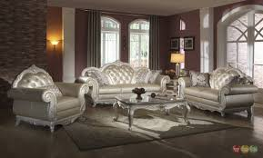 living room furniture sets 2017. Elegant Metallic Pearl Button Tufted Leather Formal Living Room Sofa Set Brown Furniture Sets 2017