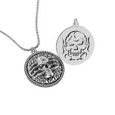 925 sterling silver extremely detailed and artistic skull pendant for men