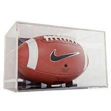 mirrored back grandstand football display case
