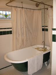 clawfoot tub and shower combo. clawfoot tub shower curtain installing a pictures enclosure 2017 and combo ,