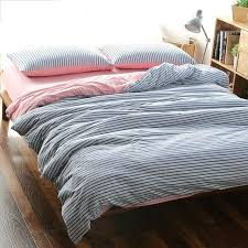 blue stripe bedding cotton super soft jersey knitted fabric navy style duvet cover with solid pink blue stripe bedding linen fl reversible duvet cover
