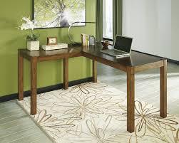 home office desks l shaped. amazoncom ashley furniture signature design lobink home office desk 60 in lshaped brown kitchen u0026 dining desks l shaped p