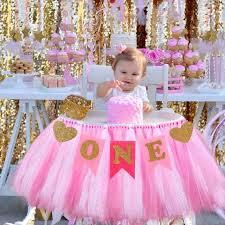 1st birthday banner fengrise baby 1st birthday boy chair garland baby girl one year