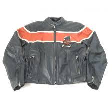 harley davidson women s leather race 1 fullzip riding jacket size medium