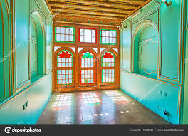stained glass windows old palace naranjestan shiraz iran stock photo
