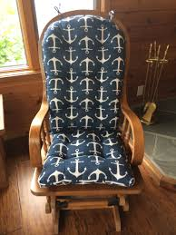 custom rocking chair cushions. Image Of: Navy Rocking Chair Covers For Nursery Custom Cushions H