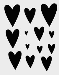 8 X 10 Heart Template Heart Stencil Hearts Stencils Many Shapes Scrapbook Template