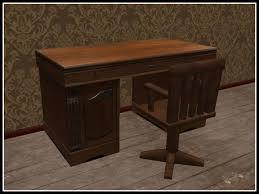 old office desk. RE Old Wood Desk W/Chair Set - Office/Den Furniture Old Office Desk