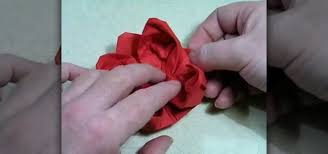Paper Napkin Folding Flower How To Make An Origami Lotus Flower From A Napkin Origami