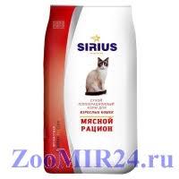 """<b>Sirius</b> (<b>Сириус</b>) <b>корм</b> для кошек """"Мясной рацион"""" - <b>Сухой корм</b> ..."""