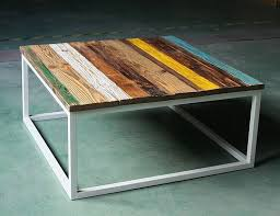 Nordic IKEA old pine board making creative minimalist full color coffee  table leisure table wood coffee table-in Bar Tables from Furniture on  Aliexpress.com ...