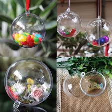 10 Clear Fillable Candy Box Christmas Bauble Xmas Tree Ball Ornament Decor  5CM P #Unbranded