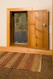 exterior back door with dog door. \ exterior back door with dog s