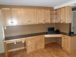 home office built in in solid cherry eclectic home office built in office