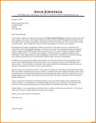 Cover Letter Sample Project Manager