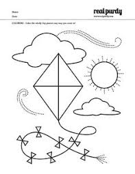 Small Picture Kite Pattern Coloring Nuttin But Preschool Preschool
