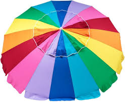 Image Carry Bag Beachkit Rainbow Multi Colour 240cm Umbrella Snowys Beachkit Rainbow Multi Colour 240cm Umbrella Snowys Outdoors