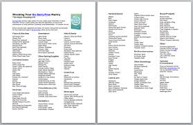 shopping lists dairy free pantry stocking printables with shopping lists