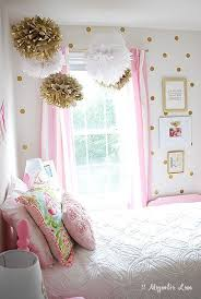 Little Girl's Room Decorated in Pink, White & Gold