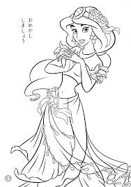 Disney Princesses Coloring Pages Jasmine Coloringstar