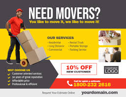 Moving Flyer Template Moving Company Service Flyer Template Postermywall