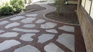 loose flagstone patio. Flagstone Patio With Pebble Inlay Backyard Inspiration Loose
