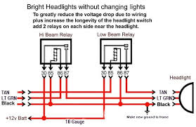 wiring diagram for relay for headlights the wiring diagram here is headlight relay wiring diagram corvetteforum chevrolet wiring diagram