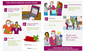 secret santa office rules free printable
